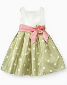 MAGIC CUBE GREEN CREAM  PoLKADOTS DRESS
