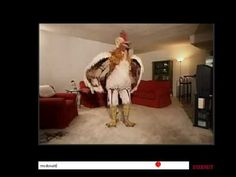 Burger King's subservient chicken.  An oldie but goodie. Cannot be outdone in its creepiness. Is that a garter belt?
