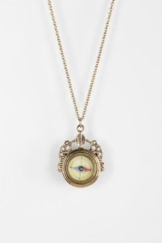 Take Me There Compass Necklace