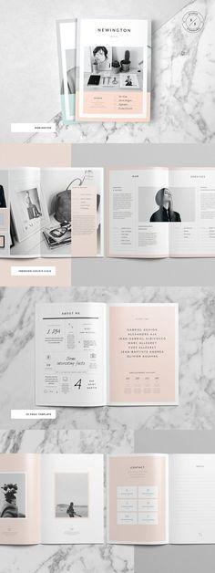 Newington Portfolio Brochure Template #portfolio #brochure #template #indesign