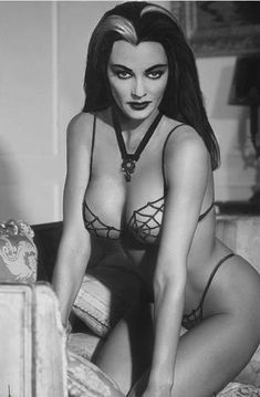 Sexy Lily Munster Yvonne De Carlo Goth Pinup The Munsters TV Show Photo Print Kitsch Horror Adult Halloween Decor Spider Web Bikini Lily Munster, Yvonne De Carlo, Yvonne Craig, Hollywood Stars, Old Hollywood, Pin Up Girls, Justine Legault, Jorge Fernandez, Dark Romance
