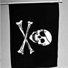 "12"" x 18"" Rayon Pirate Skull Flag"
