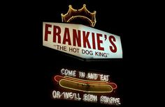 Frankie's Hot Dogs - come in and eat or we'll both starve. Waterbury, CT