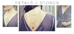 Petal & Stones Collection Tara Reynolds Design Soulful Jewelry Made in Los Angeles