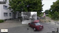 Berlin, Kreuzberg. Heinrich-Heinestrasse - corner of Sebastianstrasse. New harassments for residents of West Berlin. Apartments are closed off by cement blocks, 04/25/1963