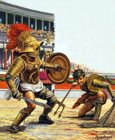 La Pintura y la Guerra. Ancient Rome, Ancient History, Gott Tattoos, Gladiator Fights, Gladiator Games, Gods Of The Arena, Roman Gladiators, Roman Legion, Roman Soldiers