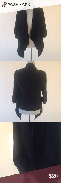 Black Cover This stylish black cover can be worn to work, church, or casually! 3/4 sleeves with scrunch detail. MAKE ME AN OFFER! Forever 21 Jackets & Coats Blazers
