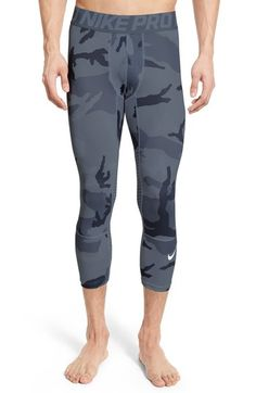 NIKE 'Pro Hypercool' Dri-Fit Three-Quarter Training Tights. #nike #cloth #
