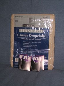 How to make a backdrop from canvas drop clothes from lowes - for under 20 dollars Canvas Dying Products
