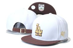 Los Angeles Dodgers Snapback Hats Caps 47Brand Strapback Caps White Brown Brim only US$6.00 - follow me to pick up couopons.