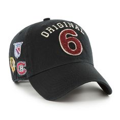 cfb080f2 47 Brand Original 6 NHL Black Rink Clean Up Adjustable Hat