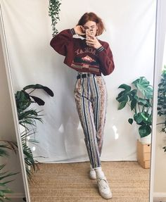 e8436bae7 Funky trouser appreciation 🧡 all items worn in these looks are vintage! I  sell similar things over on my Depop if ur curious ✨✨✨✨