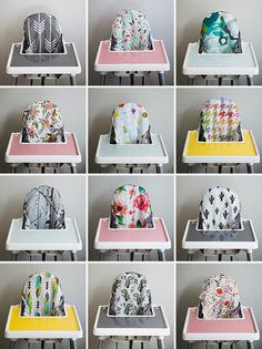 Looking for a way to spruce up your IKEA highchair? Check out these designer cushion covers and silicone placemats! The FDA food-grade silicone placemat fits perfectly inside the tray and makes clean up a breeze. Dishwasher safe and comes in a variety of colors. You've got to check out this shop!