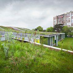Archi5 integrates Marcel Sembat High School into landscape in Rouen, France