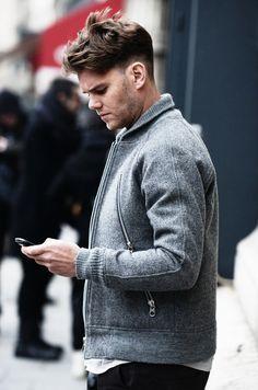 Varsity Zip-Front jacket fashion men tumblr Style streetstyle tumblr