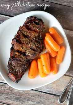 Easy Grilled Steak Recipe! On the Grill Meal Ideas for Spring and Summer! Perfect for cookouts and barbecues!