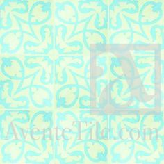 "Tile Grouping - Traditional Manzanillo Cement Tile 8"" x 8"""