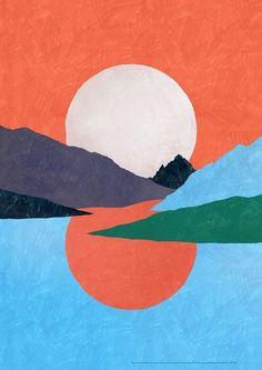 Landscape Paintings and photographs : Eiko Ojala - Photography Magazine Painting Inspiration, Art Inspo, Aesthetic Art, Painting & Drawing, Landscape Paintings, Illustration Art, Illustrations, Graphic Art, Modern Art
