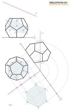 Sección producida por un plano oblicuo, mediante cambio de plano.