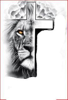 Card Tattoo Designs, Family Tattoo Designs, Lion Tattoo Design, Tattoo Sleeve Designs, Christ Tattoo, Jesus Tattoo, Lion Head Tattoos, King Tattoos, Lion Tattoo Sleeves