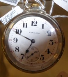 New Vendor 38 has Watches and Antique Record Players on Sale at 20% off! Welcome!!!   This Watch is a Hamilton, 165 - 2 RR Grade Pocket Watch - $500.00 before Discount.