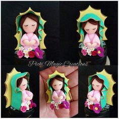 Polymer clay Virgen de Guadalupe.