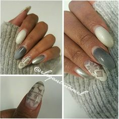 Some much clearer photos of my nail art from yesterday! Definitely need a brighter light in my living room! #acrylic #acrylicnails #nailsofinstagram #nailfie #nailporn #nailphoto #nailstagram #nailswag #nailsofig #nailsoftheday #nailtech #christmasnails #whitenails #greynails #nailstamping.