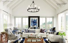 Ceiling and bright white!