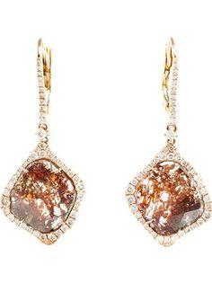 Saqqara Sliced Diamond Drop Earrings - Browns - Farfetch.com