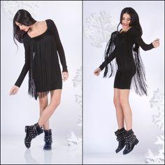 ROCK YOUR XMAS! Be #rock and #glam with this fringed dress! Buy it here: http://patriziape.pe/fringedress #fringed #dress #xmas13 #eveningoutfit #iloveit #igers #igdaily #instaglam #instamood #fashion #fashionable #love #like #onlypatriziapepe