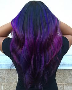 Blue and purple hair isn't just about the common shades associated with the two colors. The two colors have got many more different shades that make a