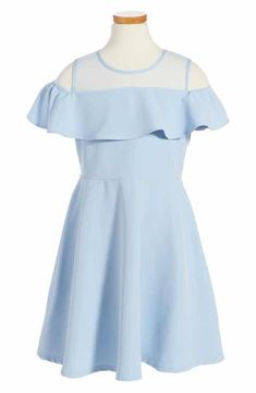 Bardot Junior Cold Shoulder Ruffle Dress (Big Girls)