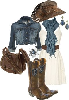 """Blue Roots"" by jewhite76 ❤ liked on Polyvore. Featuring old gringo boots"