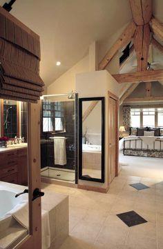 open bathroom off the bedroom  timber-frame-home-bathroom.jpg (545×835)