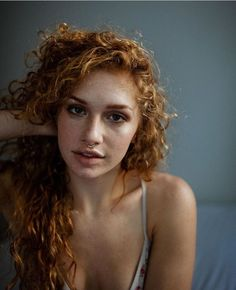 Freckled redhead natural boobs