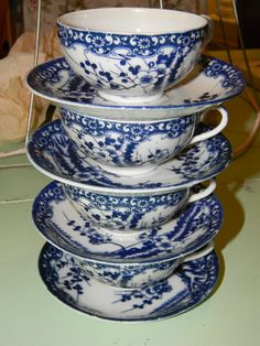 I love blue and white dishes