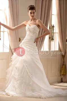Gorgeous A-Line/Princess Sweetheart Chapel Wedding Dress : Tidebuy.com