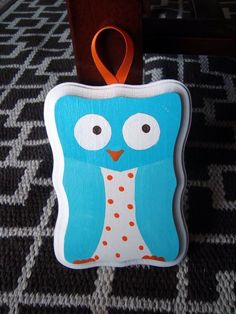 Owl plaque for nursery or room decor - $10