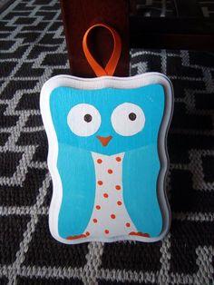 Owl plaque for nursery or room decor - $10
