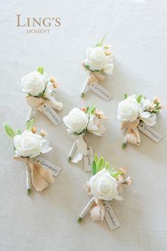 Wedding Cake Rustic, French Wedding, Ivory Wedding, Fall Wedding, Diy Wedding, Wedding Gifts, Wedding Ideas, Wedding Stuff, White Boutonniere