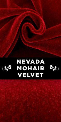 Nevada Mohair Velvet in Cordovan Red