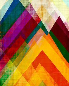 8 x 10 print circles bright colors geometric print by AmyLighthall, $20.00