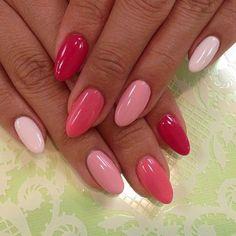 Beautiful Nail Designs To Finish Your Wardrobe – Your Beautiful Nails Perfect Nails, Gorgeous Nails, Love Nails, Pretty Nails, Shellac Nail Designs, Shellac Nails, Nail Manicure, Nails Design, Red Ombre Nails