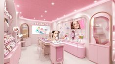 Makeup Bar, Cosmetic Display, Cosmetic Shop, Kylie Pop Up Shop, Shop Name Ideas, Pharmacy Design, Exhibition Stand Design, Makeup Store, Pop Up Stores