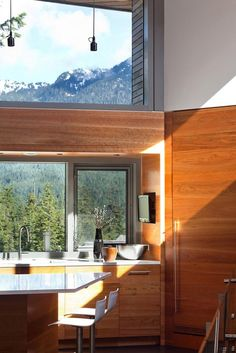 Image 7 of 29 from gallery of Whistler Residence / BattersbyHowat Architects. Photograph by Sama Jim Canzian Modern Interior Design, Interior Design Inspiration, Interior Architecture, Interior And Exterior, Sink Inspiration, Commercial Architecture, Wc Decoration, Level Homes, Whistler