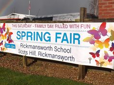 We specialise in designing and printing PVC Banners at LOW cost on high end material, FREE hemming, FREE eyelets. All our banners are printed on thick material, prices from Pvc Banner, Spring Fair, Banner Ideas, Event Banner, Outdoor Banners, Vinyl Banners, Family Day, Printers