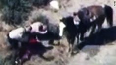 The FBI will investigate whether civil rights were violated during the videotaped beating of a California suspect who allegedly fled police horseback. San Bernardino Police, San Bernardino County, Cop Out, Hidden Camera, News Stories, Cops, California, Horses