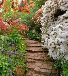Scotney Castle Garden in Lamberhurst, Kent, England (by ukgardenphotos).