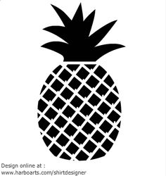 Be creative and express your self uniquely! Choose from the decals we have or contact us to see what QAA can design for you! Cartoon Pineapple, Pineapple Print, Black Cartoon, Cartoon Pics, Cartoon Drawings, Silhouette Curio, Stencil Diy, Stencils, Black And White