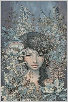 Where I Rest by Audrey Kawasaki, printed by Static Medium